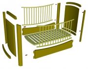 Собрать детскую кровать. Схема сборки детской кровати.