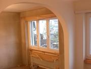 Стильный ремонт квартиры. Когда убираются дверные проемы и вместо них делается красивая арка - это расширяет пространство.