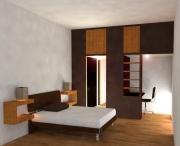 Стоимость отделки квартиры под ключ. Спальня после ремонта выглядит современно и стильно.