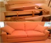 Стоимость сборки мебели. Сборка дивана.
