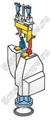 Ремонт унитаза, ремонт унитазов IDO, ремонт унитазов IFO. Сливной механизм арматуры бочка унитазов ИДО, ИФО.