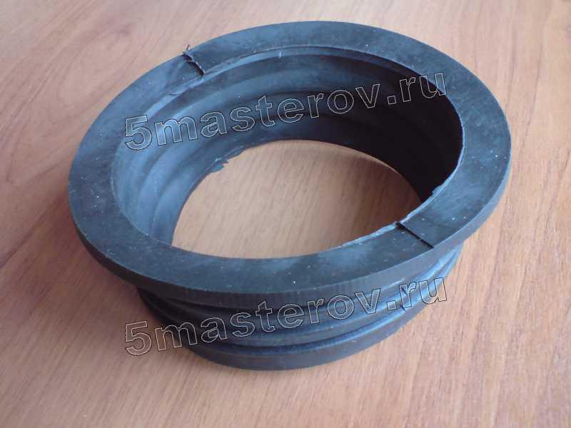 Ремонт унитаза, замена гофры, манжета_чугун-пластик, при ремонте унитаза, канализации нужна как переходное звено для монтажа пластиковых труб