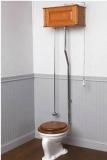 Установка бачка унитаза  с опорой на два кронштейна