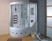 Установка душевых боксов. Душевой бокс - это великолепное сочетание ванны и душевой кабины.