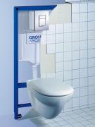Установка инсталляции Grohe. Сантехнические инсталляции позволяют значительно экономить пространство ванной комнаты и туалета, позволяя установить дополнительное оборудование, предметы мебели.