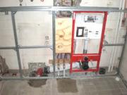 Установка инсталляции. В целом система инсталляции для унитаза является конструкцией, изготовленной из металлических профилей – она позволит произвести монтаж подвесной сантехники.