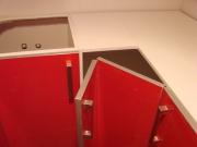 Установка кухонной мебели. Установка углового кухонного шкафа.