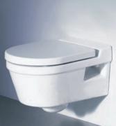 Установка навесного унитаза.Навесной  унитаз займет мало места в туалетной  комнате.