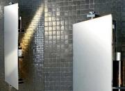 Установка зеркала в ванной. Установка зеркала-полки в ванную на кафельную плитку.