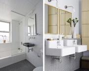 Установка зеркала в ванной. Зеркала в ванной могут быть установлены на разные поверхности.