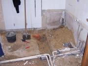 Ванная и туалет под ключ. Замена канализационных труб и труб водоснабжения.