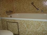 Ванная комната под ключ цена. Ванна после ремонта и отделки плиткой.