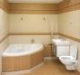 Ванная под ключ, фото. Совмещенная ванная комната. Установка сантехники, угловой ванны, отделка плиткой.