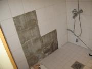 Ванная под ключ. Демонтаж старой плитки в ванной.