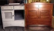 Восстановление мебели. Старая тумбочка до и после восстановления.