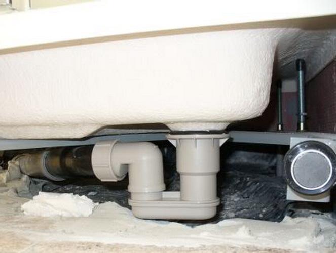 Как сделать канализацию к душевой кабине