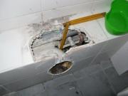 Замена канализационных труб в квартире. Частичная замена труб в туалете.