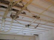 Замена проводки, стоимость. Замена электропроводки перед окончательной отделкой потолков.