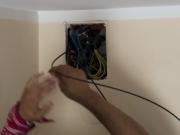 Замена проводки в хрущевке. При замене проводке обязательно устанавливаются современные монтажные коробки.