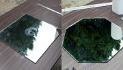 Замена зеркал. Чтобы сделать шестигранное зеркало, необходимо аккуратно разметить и правильно вырезать его.