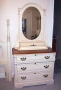 Замена зеркал. Замена зеркала в антикварном туалетном столике.