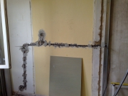 Заменить проводку. При замене электропроводки иногда необходимо  изменение схемы электроснабжения в квартире.
