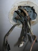 Заменить проводку. Пожалуйста не откладывайте замену старой электропроводки. пригласите наших мастеров!.