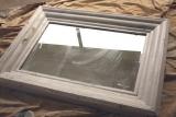 Заменить зеркало. Старое зеркало, в котором необходимо заменить зеркальное полотно и отреставрировать раму.
