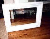 Заменить зеркало. Зеркало после реставрации рамы и замены зеркала.